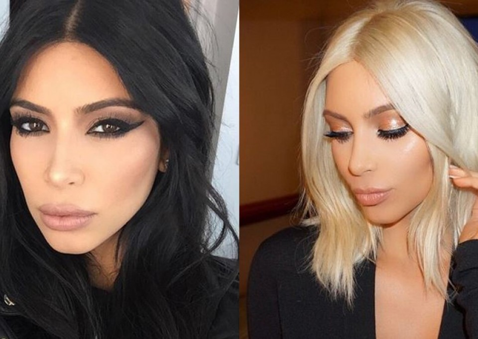 olaplex before after obnova poškodovanih las kim kardashian