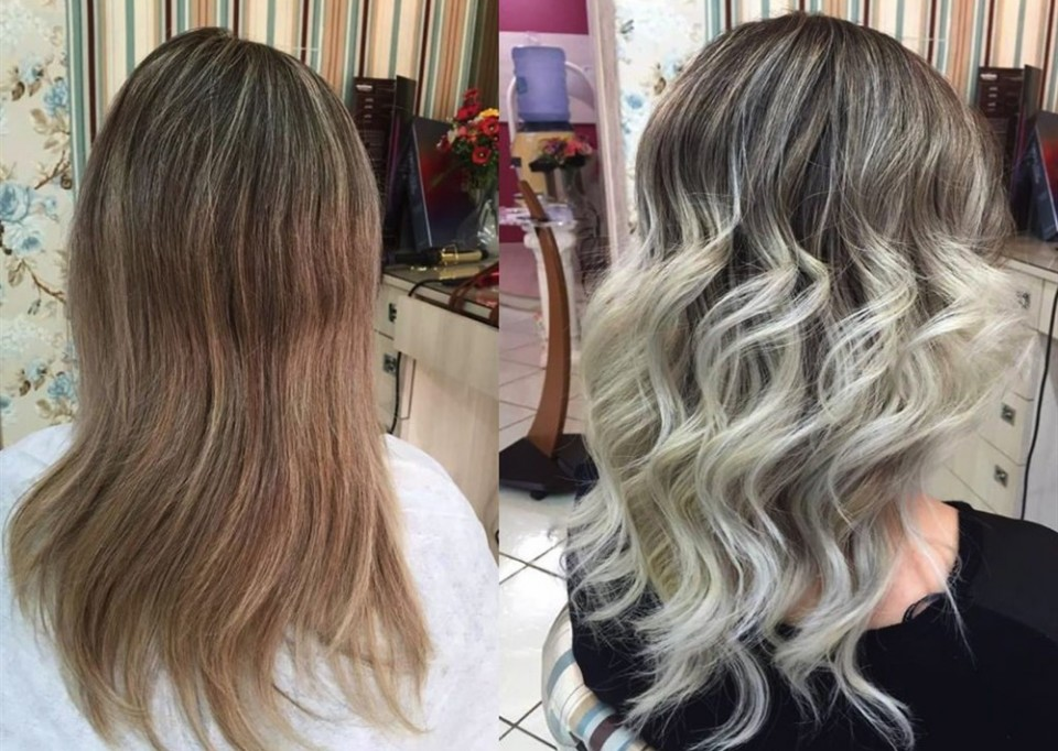 olaplex before after obnova poškodovanih las
