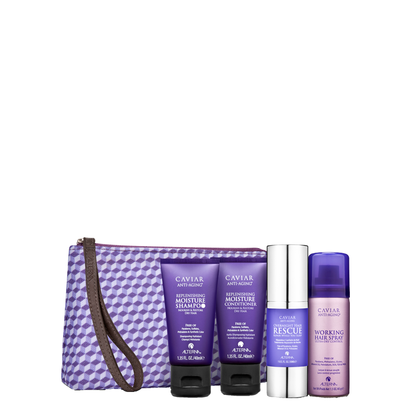 alterna caviar Moisture Travel kit potovalni set za suhe lase